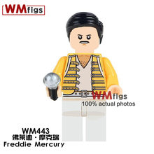 Single Celebrity Legoings Freddie Mercury Rock Band Singer Queen Figures Famous People Building Blocks Toys for Children Gifts(China)