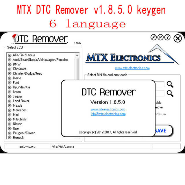 US $8 9  2017 MTX DTC Remover 1 8 5 0 with keygen 6 Language Use to Remove  or Disable DTCs for Different Cars ODB M BUS Car-in Software from