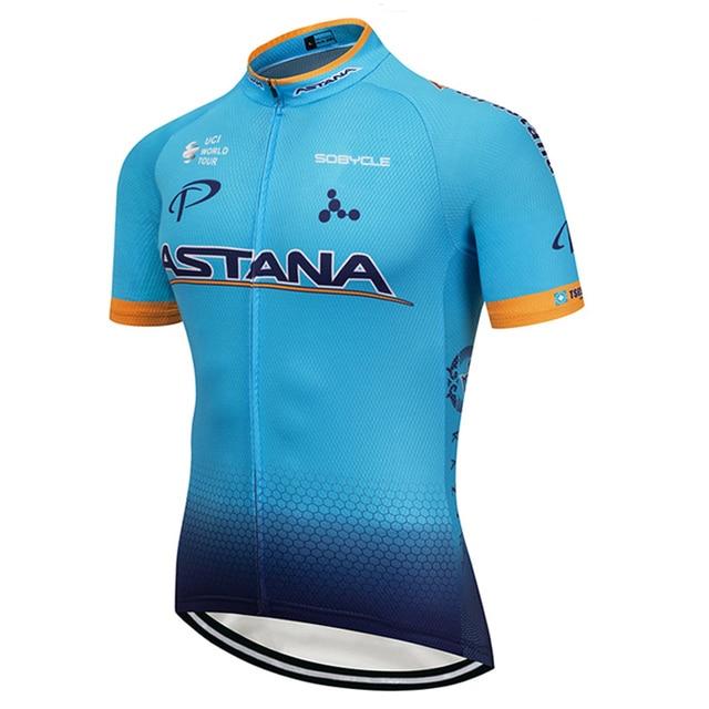 2018 ASTANA Cycling team Clothing Bike jersey Quick Dry Mens Bicycle shirts  short sleeves pro Cycling Jerseys bike top Maillot c649518e3