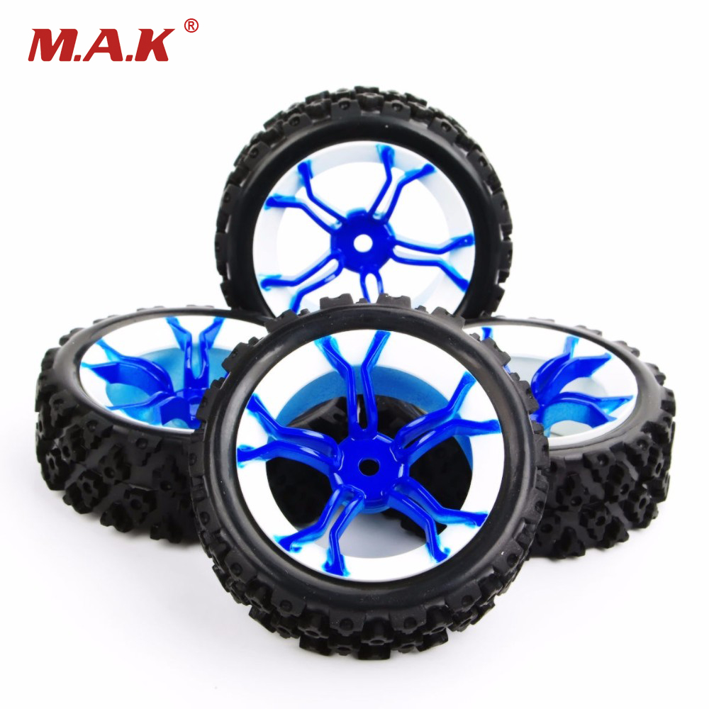 1/10 Scale RC Off Road Car Model Accessory Vehicle Rubber Tires Wheel Rim MPNWB+PP0487 4PCS/SET 1 10 rubber on road racing car model replacement tire black 4 pcs