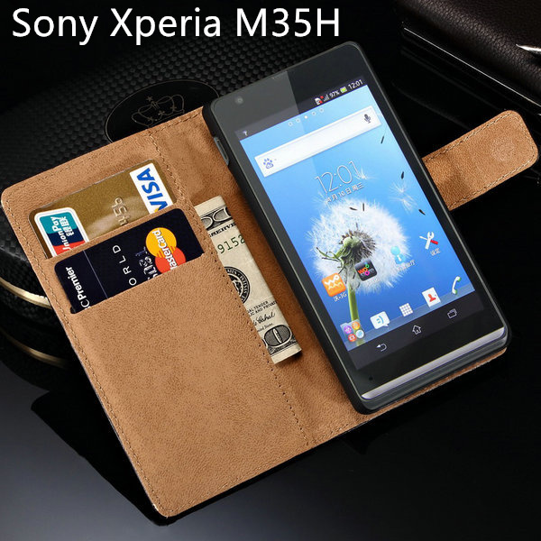 C 5303 for Sony Xperia SP Case M35H Hot Luxury Leather Flip With Stand Design Mobile Phone Back Cover C530x Black C5303 Cases