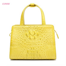 100% правда крокодиловой кожи Для женщин дизайнер Сумки из брендовой натуральной кожи Для женщин сумка элегантная сумка