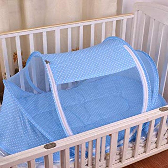 Verano bebé cuna malla mosquitera cama de bebé Mosquito insectos cuna red plegable bebé recién nacido protección de cama