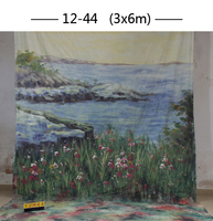 2017 10*20ft Hand Painted cloth photography background wedding,toile de fond studio photo 1244, muslin scenic photo backdrops