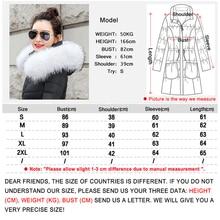 Women Winter Jacket Parkas – Coat Female Down Jacket With a Hood Large Faux Fur Collar