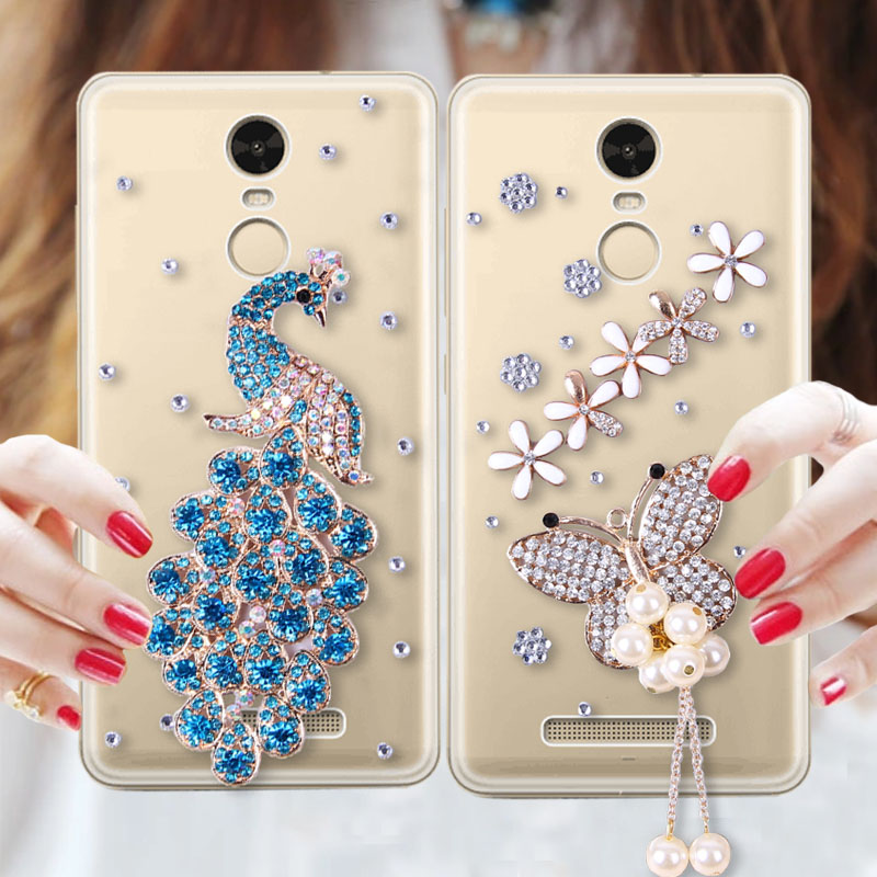 7002114b29c For xiaomi redmi note 3 rhinestone phone case redmi note3 mobile phone case  protection case transparent 5.5 everta female