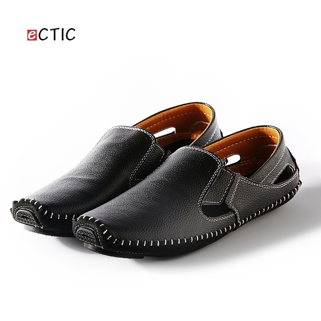 Driving Shoes Genuine Leather Good Quality Men Slip On Shoes Comfortable Plus Size