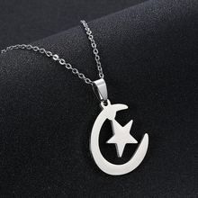 Middle East Arab moon star pendant necklace for stainless steel Men/women Muslim islamic religious jewelry Gift