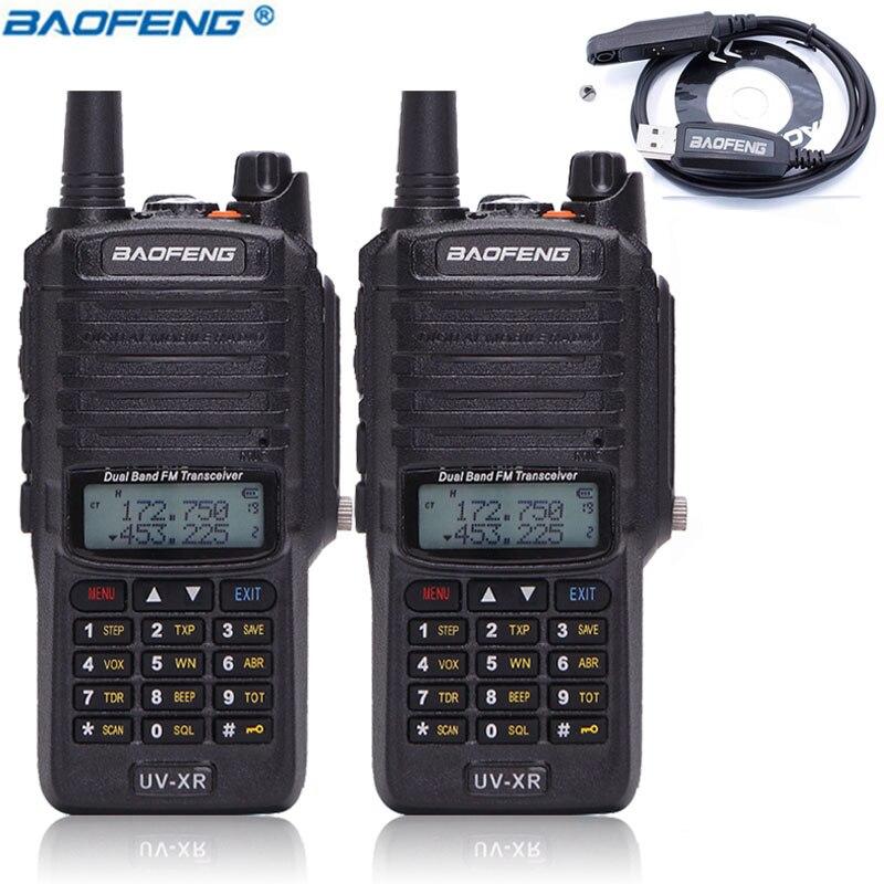 2PCS Baofeng UV XR IP67 Waterproof Dual Band Ham Radio 4800mAh 10W UVXR Walkie Talkie 10km