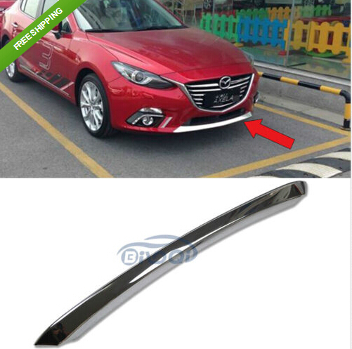 ABS Chrome Front Grill Grille Bumper Cover Trim For Mazda 3 2014 chrome front bottom grill grid grille cover trim for mazda 3 axela m3 2014 2016