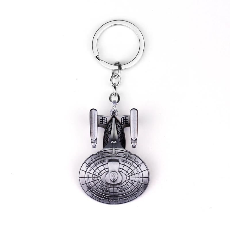 10PC Fashion Star Wars Spaceship Keychain Cool Falcon Keyrings Alloy Pendant Keyring Man Jewelry Accessor Wholesale