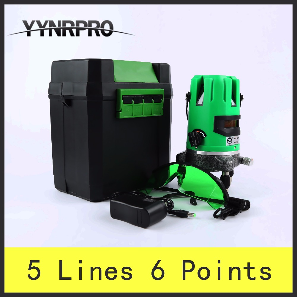 YYNRPRO New Green Light  5 Lines 6 Points Laser Level 360 Vertical & Horizontal Rotary Cross Laser Line Leveling quality mtian level laser 5 lines 6 points instrument levels 360 self rotary 635nm corss line lazer level tools fast delivery
