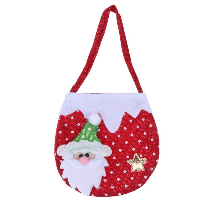 0c3a3fe2c06f Creative Christmas Tree Pattern Santa Claus Candy Bag Handbag Home ...