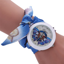 Ladies Flower Scarves Bracelet Watches Women Fashion Diamond Crystal Quartz Wrist Watch Woman Leisure Clock Reloj