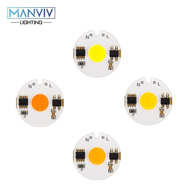 LED COB チップランプ 12 ワット 9 ワット 7 ワット 5 ワット 3 ワット 220V スマート IC 高輝度ドライバフィット Diy スポットライト投ウォームホワイト