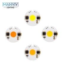 LED COB שבב מנורת 12W 9W 7W 5W 3W 220V חכם IC גבוהה בהירות נהג Fit DIY עבור זרקור הארה קר לבן חם לבן