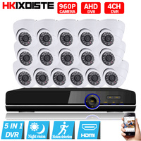 CCTV System 16ch dvr kit 16channel indoor 1.3MP 960P video surveillance Camera Kit 16CH 1080P AHD DVR security camera System