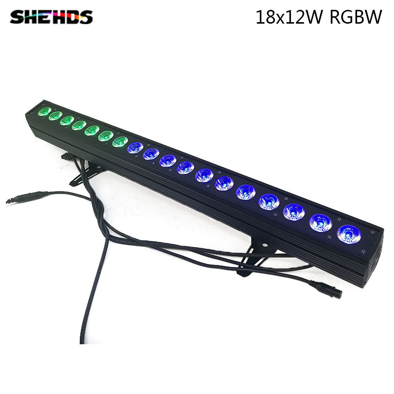 LED Wash Wall 18x12W RGBW 4in1 Stage Lighting Indoor And Outdoor With Running Horse Point Control DMX512 Good Effect DJ Equipmen