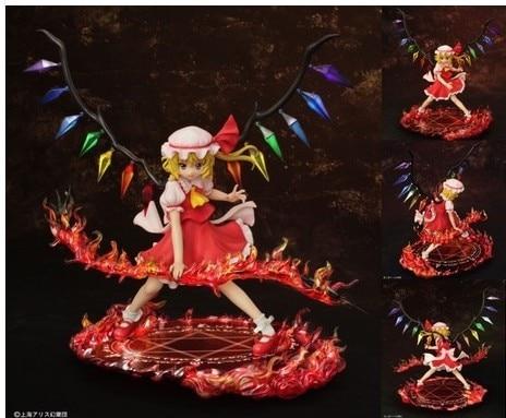 Anime GRIFFON Touhou projeto Flandre Scarlet Scarlet Espada Ver. Modelos Figura de Ação PVC Figuras de Brinquedo 25 cm Frete Grátis
