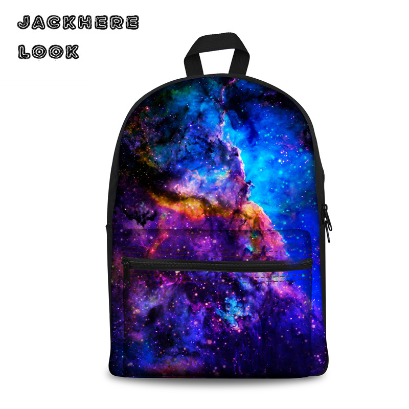 Cool Student Boys Galaxy School Bag Teenager Multicolor