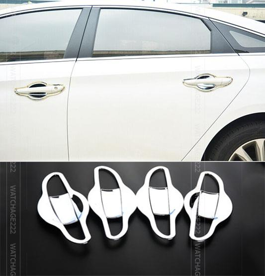 ACCESSORIES FIT FOR 2015 HYUNDAI SONATA LF CHROME DOOR HANDLE BOWL COVER CUP CAVITY TRIM MOLDING