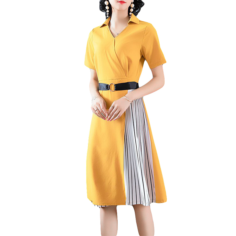 Spring Summer Spell Dress New European Fashion Design Women Leisure Clothes Vestidos Short Sleeve Yellow Dresses Lady Dress Dresses Aliexpress