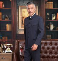 Traditional chinese clothing for men Zhongshan suit National costume Elderly clothes Chinese jacket men