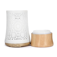 Wholesale Air Humidifier Aroma Diffuser Wood Essential Oils Diffuser Ultrasonic Humidifiers Aromatherapy Umidificador Light