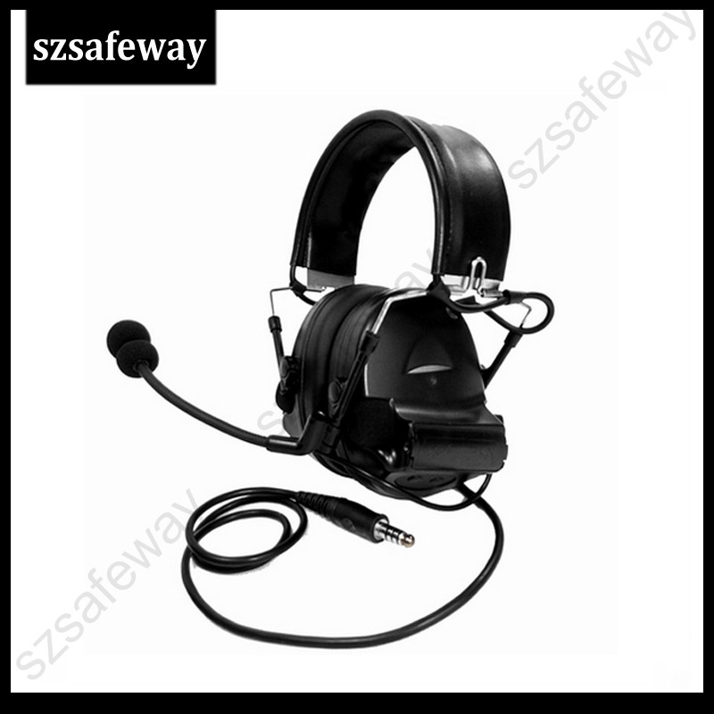 H50 High Quality Tactical Headset Noise Reduction Canceling Headphone Electronic Sound Pickup Comtac II For Two Way Radios