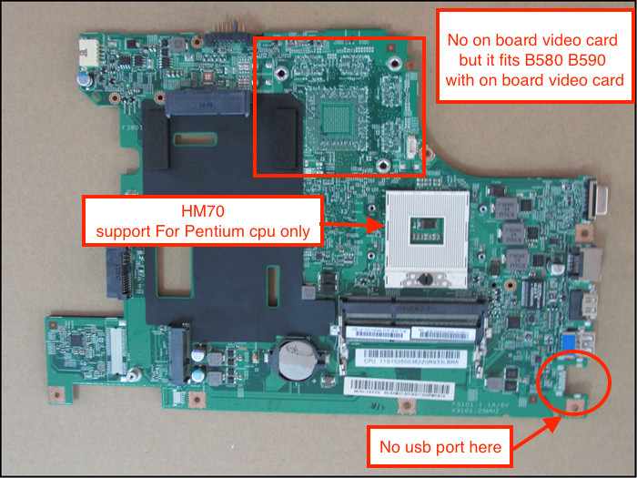 все цены на  Free Shipping 100% working New Laptop Motherboard For Lenovo B580 B590 Notebook PC HD4000 (For Pentium cpu only)  онлайн