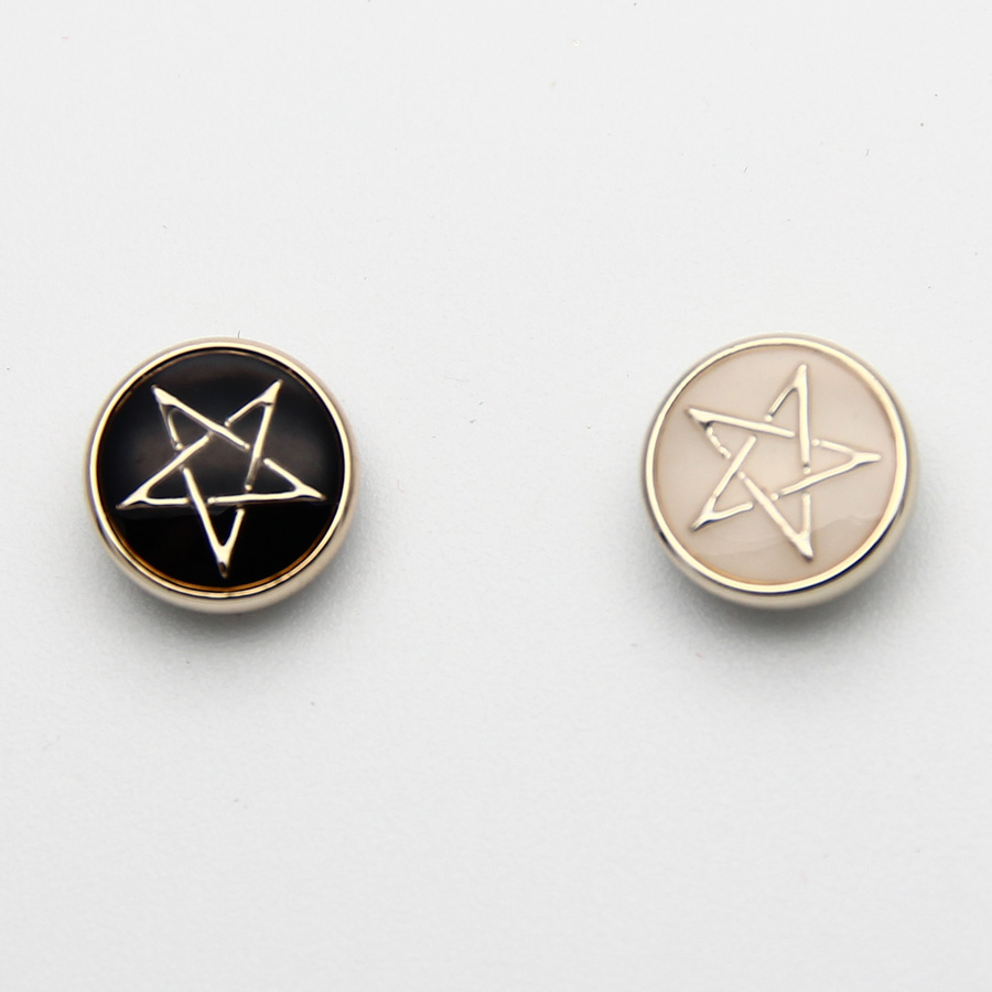 2 Sets Fashion Clip Earring Zinc Alloy Black White Star Magnetic Clip  Earrings Magnet Magic Earrings