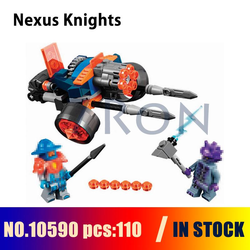 Compatible with lego 70347 Models building kits 10590 110pcs Nexus Knights Kings Guard Artillery Building Blocks toy & hobbies