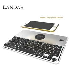 Фотография Landas Wireless Keyboard Backlight with Charger Keyboard For iphone X  charger with 7 Backlit Keyboard Mini for iPhone X