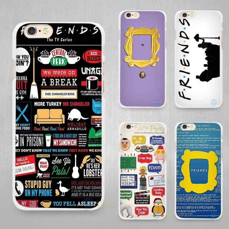 tumblr Friends TV Show Hard White Cell Phone Case Cover for Apple iPhone 4  4s 5 5C SE 5s 6 6s 7 8 Plus X