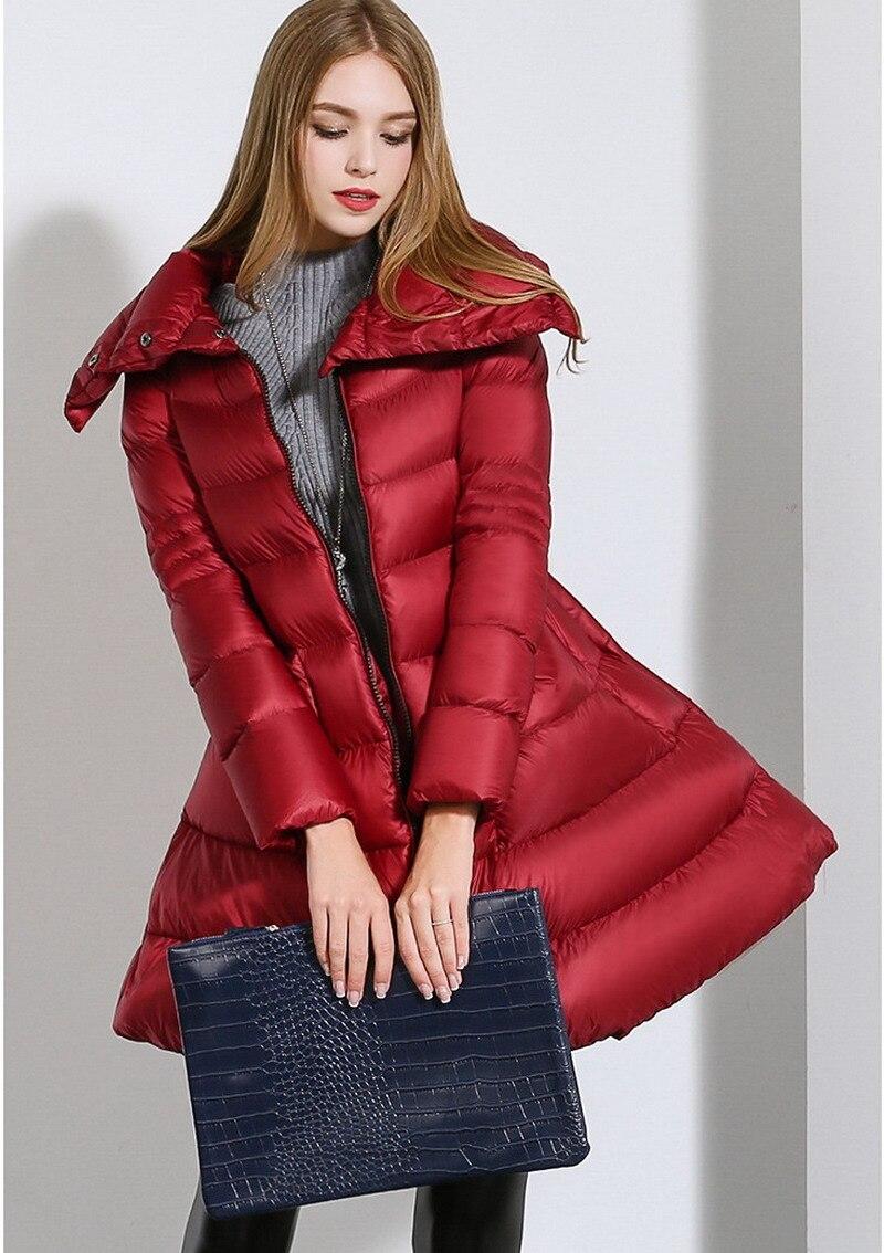 black Long 2xl Red Plus Le Veste 2016 Manteau Stand Femmes Nouveau Bas Vers Épais Cbb236 Ourlet D'hiver Col Taille Grand W6PHfq6