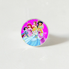 Hot! 2019 New Womens Jewelry ring Crystal Glass Round Cinderella Princess Elsa Anna Snow Queen Girl