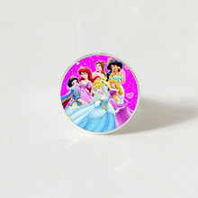 Hot! 2019 New Women's Jewelry ring Crystal Glass Round Cinderella Princess Elsa Anna Snow Queen Girl ring(China)