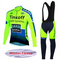 Winter Thermal Fleece Black Tinkoff Team cycling Ciclismo long sleeve Breathable Cycling jersey clothes MTB Bicycle clothing