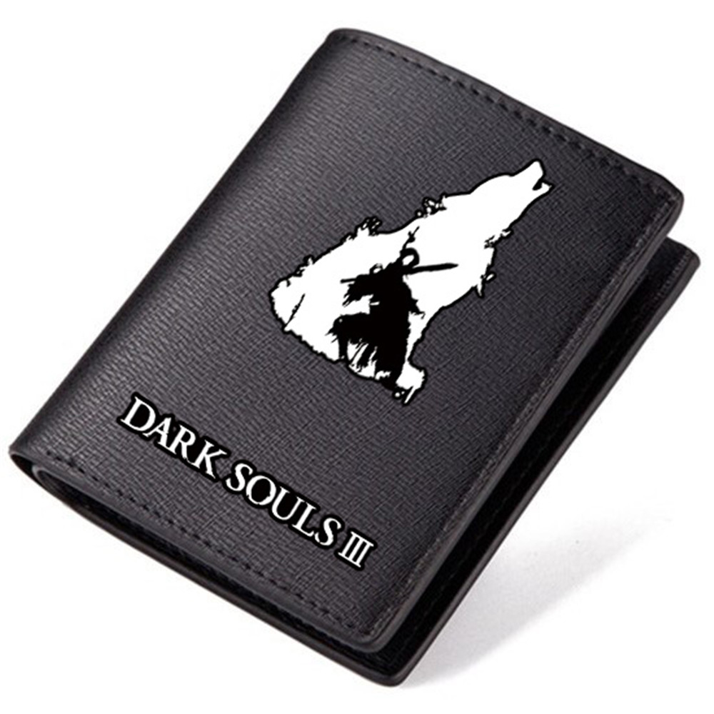 Dark Souls Wallet Teenage Boys Favorite Black Long Purse Short Wallets Best Birthday Gifts men long purse boys teenagers black pu wallet doge shiba inu wallets birthday gifts carteira