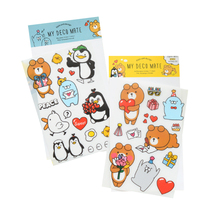 3pcs/lot Cute Stickers Korean Penguin Bear Sticker Cartoon Phone Stationery Scrapbooking For Student Gift