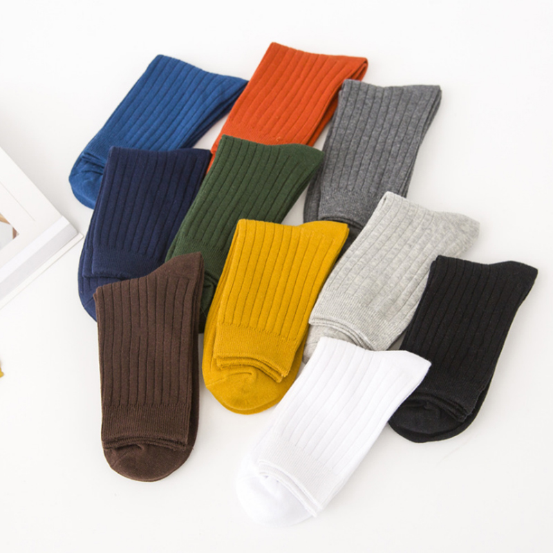 Colorful Crew Cotton Men Happy Socks British Style Casual Harajuku Dot Socks for Men Warm Winter Socks