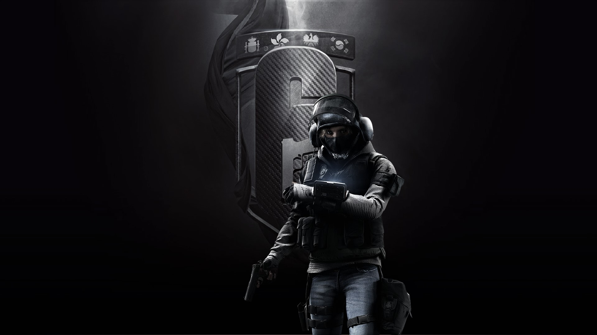 US $10 16 5% OFF|Rainbow Six Siege Posters Video Games Wallpaper, Home  Accessories Decorative Painting Silk Printing Process 38X67 Cm-in Painting  &