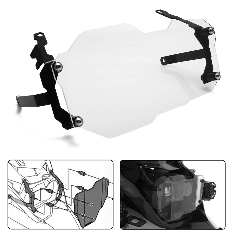 For BMW R1200GS Headlight Protector Guard Lense Cover for BMW R 1200 GS Adventure 2013-on (WATER COOLED)