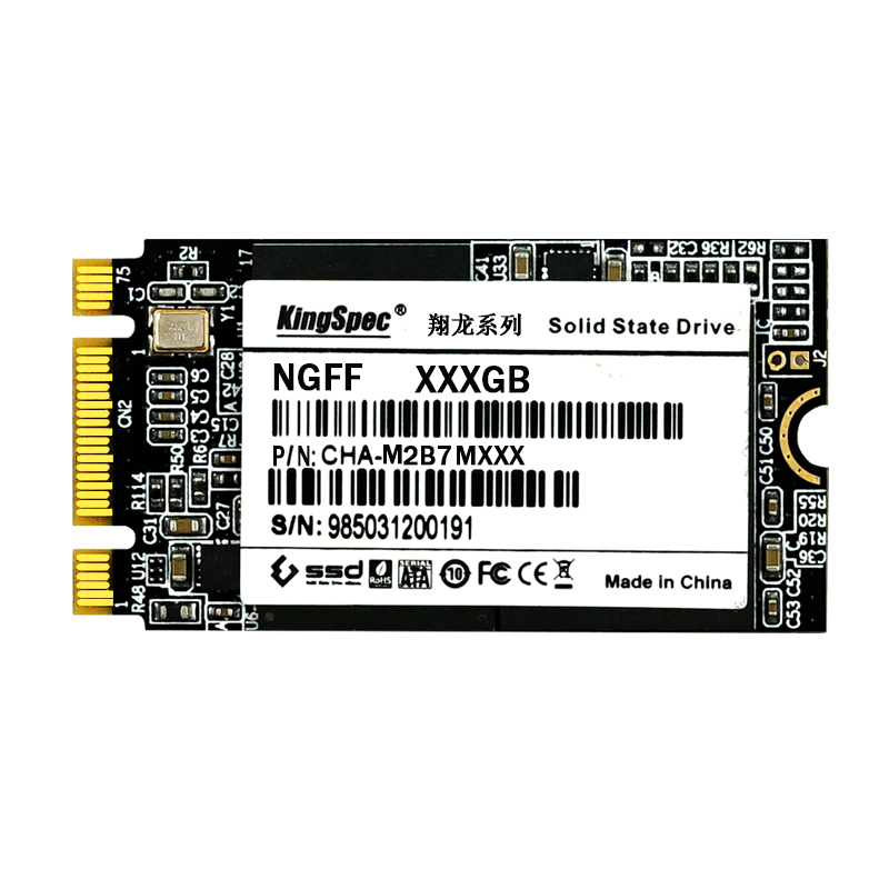 22x42mm brand kingspec 64GB 128GB solid state hard disk NGFF M.2 ssd interface flash memory MLC for  laptop ultrabook upgrade