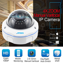 Smart IP Camera with Manual Varifocal Lens for Home Security