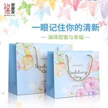 10 stücke Freies verschiffen Hochwertige Blumen Geschenk einkaufstasche Hochzeit liefert papiertüte Senden geschenk verpackung handtasche Urlaub partei