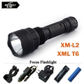 Cree XML T6 XM L L2 powerful led flashlight torch Waterproof lanterna portable camping hunting light 18650 rechargeable battery