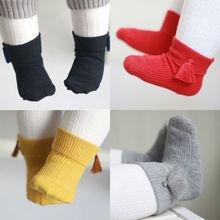 UK Lovely Baby Girls Tassel Short Socks Infant Newborn Toddler Ankle Socks 0-4Y