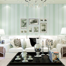 Hot Simple Vertical Stripe Embossed Wallpaper Pure Color Nonwoven Bedroom Living Room TV Sofa Wall Paper Roll
