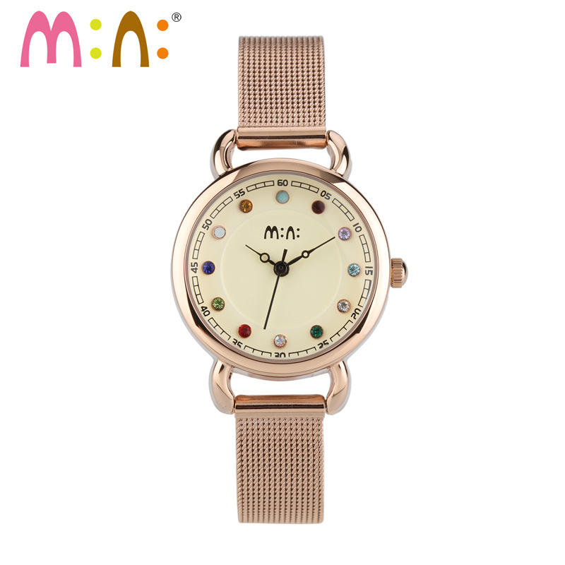 M:N: Luxury Brand Women Watches Waterproof Leather Stainless Steel Bracelet Ladies Quartz Wrist Watch Clock Woman Reloj MujerM:N: Luxury Brand Women Watches Waterproof Leather Stainless Steel Bracelet Ladies Quartz Wrist Watch Clock Woman Reloj Mujer